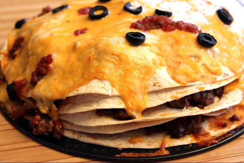 Tacos de carne torta