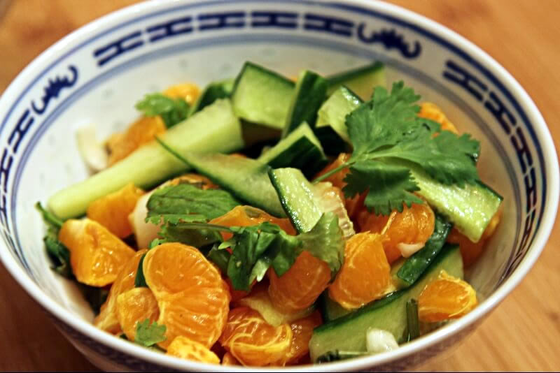 Salade de clémentines asiatique
