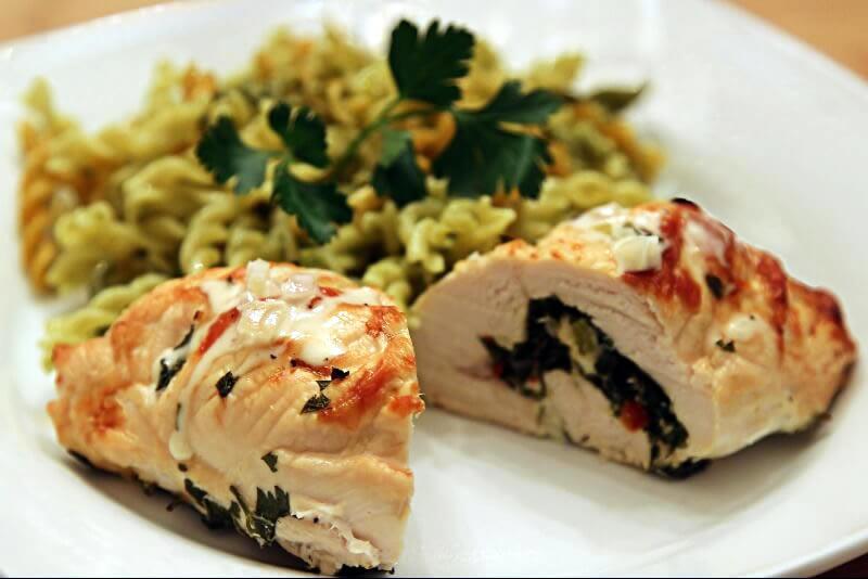 Roulade de poulet à la grecque