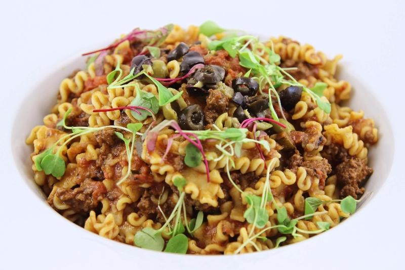 Lasagnetta, sauce a la viande et courgettes