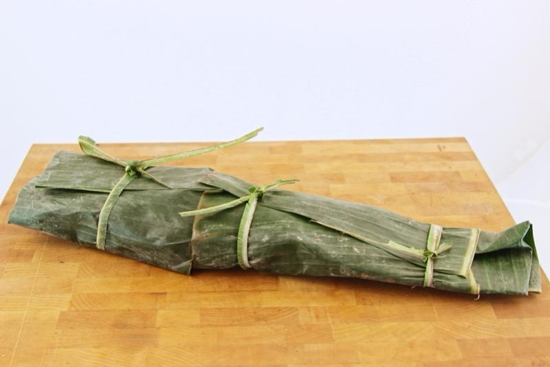 Vivaneau en feuilles de bananier