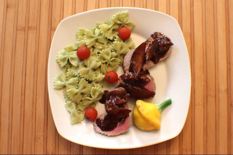 filets de porc aux poires et au vinaigre balsamique