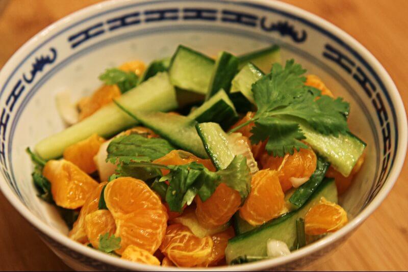 salade de clementines asiatique recettes gourmandes. Black Bedroom Furniture Sets. Home Design Ideas