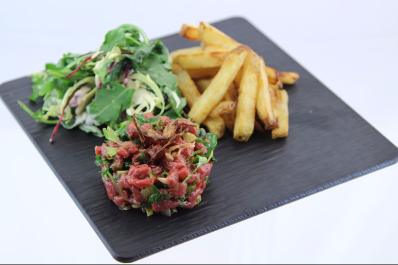 Bison tartar with candied shallots 2 | Recettes Gourmandes