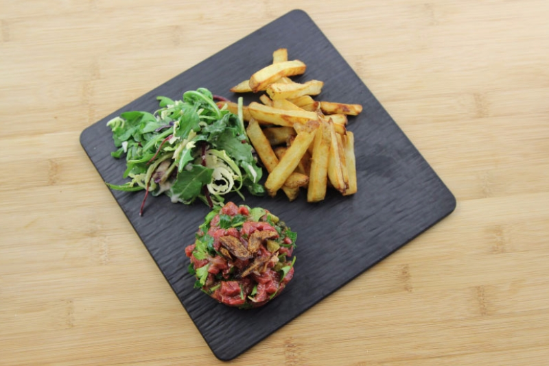 Bison tartar with candied shallots 3 | Recettes Gourmandes