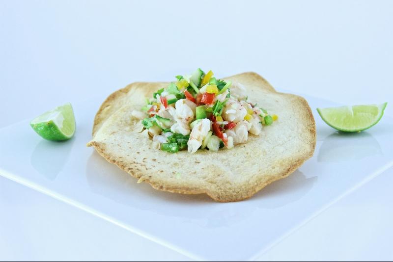 Tartare de crevettes à la mexicaine