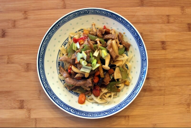 Chop suey au porc