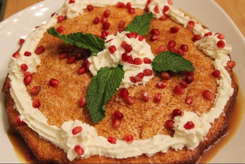 Gâteau blanc au caramel
