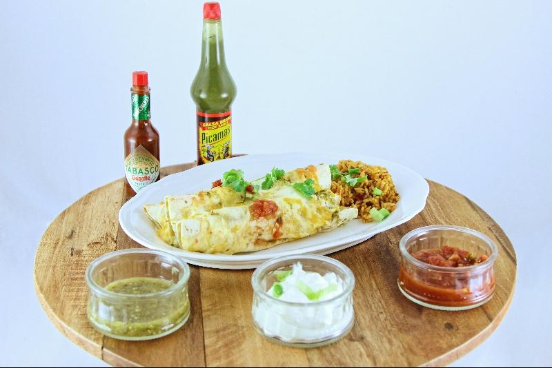 Enchiladas aux crevettes et crabe