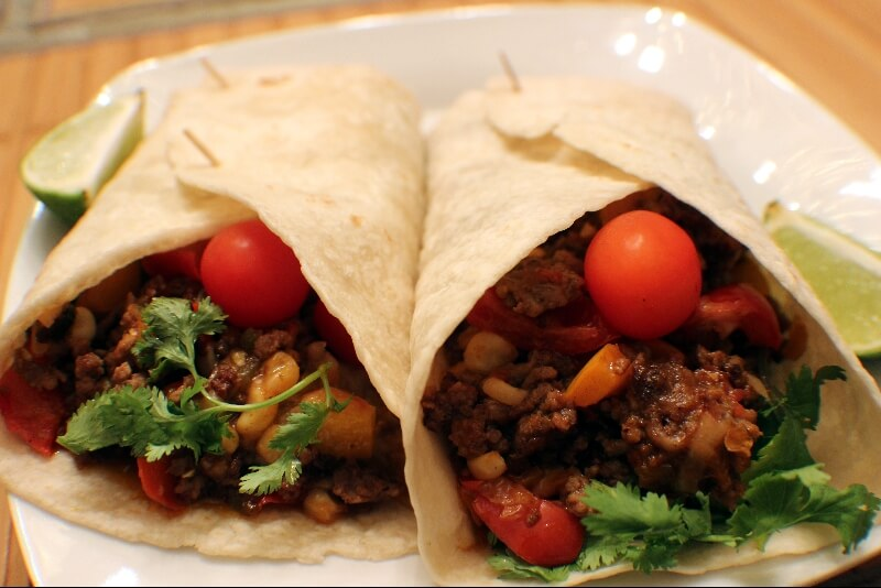 Burritos au bœuf