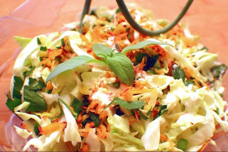 Salade de choux à la fleur d'ail