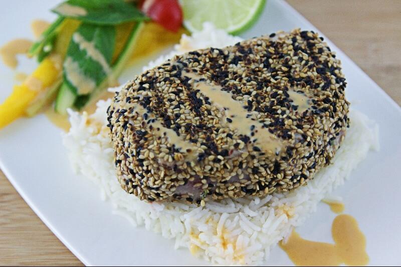 Tataki de thon aux sésames